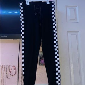 Black and white checkered leggings from PINK